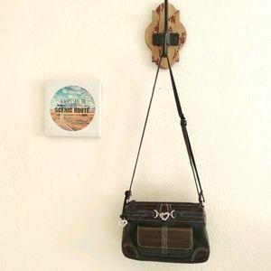 Brighton 💜 Crossbody Leather Purse Organizer Bag